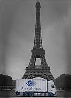 En av våra bilar i Paris.